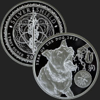 1 oz Year of the Dog Proof Silver Round .999 Fine