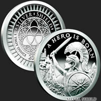 1 oz A Hero is Born Proof Silver Round .999 Fine