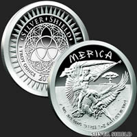 1 oz Merica Proof Silver Round .999 Fine