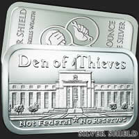 1 oz Den of Thieves BU Silver Bar .999 Fine