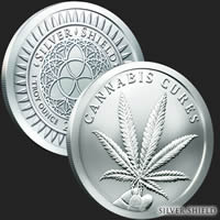 Cannabis Cures 1 oz Silver Shield Coin