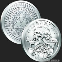 Oligarchy 1 oz Silver Shield Coin