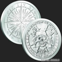 1 oz Pieces of Eight BU Silver Round