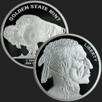 2 oz Buffalo Silver Round .999 Fine