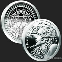 Freedom Girl Proof 1 oz Silver Shield Coin