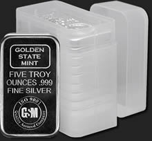 Tubes for 5 oz Silver Bars (Rectangles)
