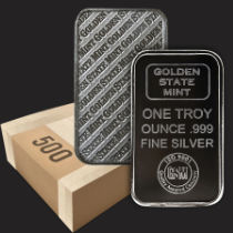 Monster Box 1 oz Golden State Mint Silver Bullion Bar .999 Fine