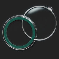 39 mm Air-Tite Ornament Capsule | 1 oz Rounds (green ring)