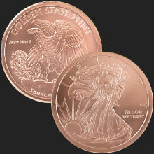 5 oz Walking Liberty Copper Round .999 Fine