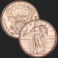 Standing Liberty 1/2 oz Copper Coin