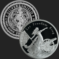 1 oz Let Freedom Ring MiniMintage Proof Silver Round