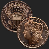1 oz Morgan Copper Bullion Round .999 Fine