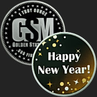 1 oz Happy New Year Sparkles 2018 Silver Round .999 Fine (capsule included)
