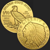 Incuse Indian 1/10 oz Gold Coin