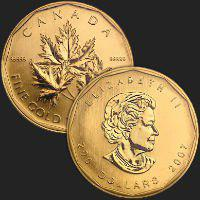 2007 Canada 1 oz Gold Maple Leaf BU .99999 (w/Assay Card)