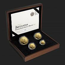 2011 Britannia 4-Coin Gold Fractional Proof Set