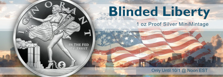 1 oz Blinded Liberty MiniMintage Proof Silver