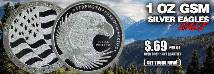 GSM 1 oz Silver Eagle bullion rounds