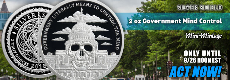 1 oz Government Mind Control Silver Shield Pr