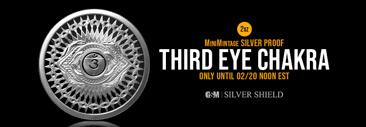 2 oz Third Eye Chakra Proof Silver Shield