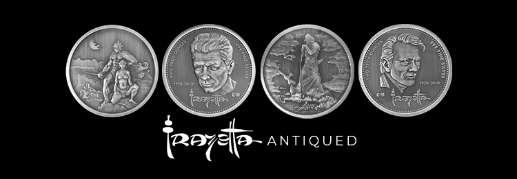 2 oz Antiqued Silver Frazetta