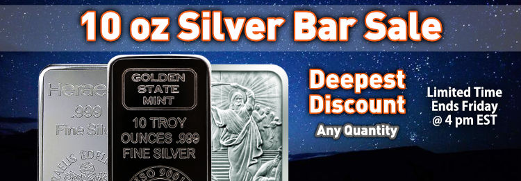 10 oz silver bars on sale at there lowest pri