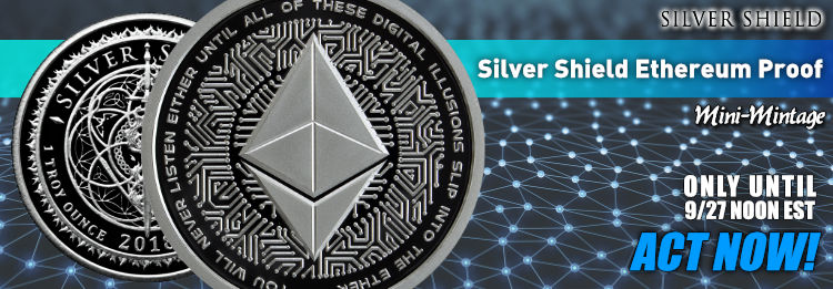 Proof 1 oz Silver Shield Ethereum
