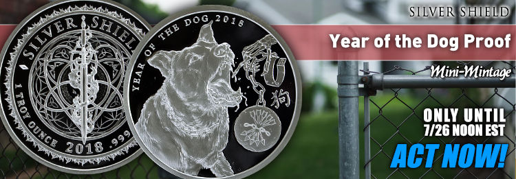Proof Year of the Dog Silver Shield