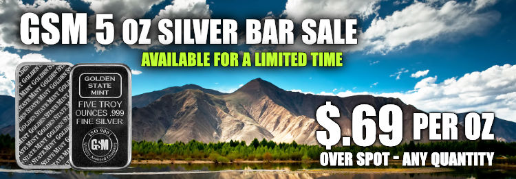 Golden State Mint Silver bullion Bars Sale on