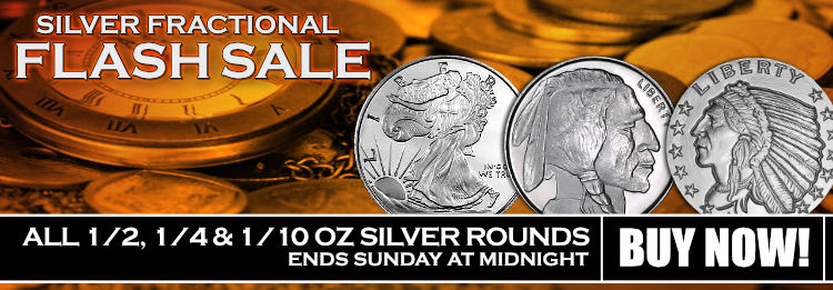 Golden State Mint Silver Fractional Rounds on