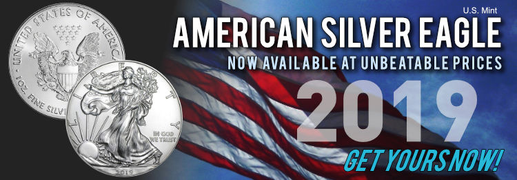 2019 American Silver Eagle 1 oz Silver now