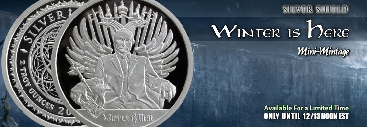 Proof 1 oz Silver Shield Winter is Here - Win