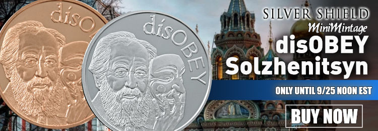 disOBEY Solzhenitsyn MiniMintage in silver an