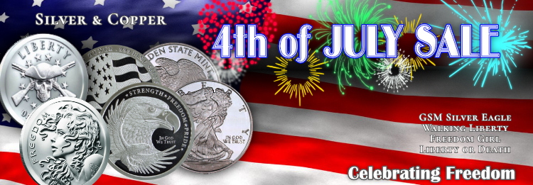 4th of July Sale at Golden State Mint