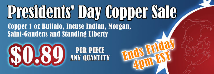 Presidents day sale copper sale