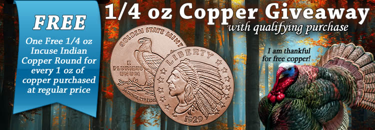 copper bullion round giveaway get free copper