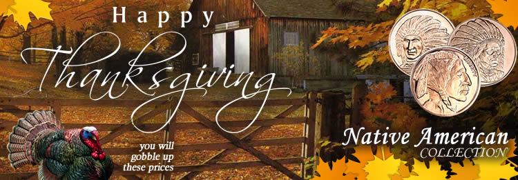 Happy Thanksgiving from everyone at Golden State Mint