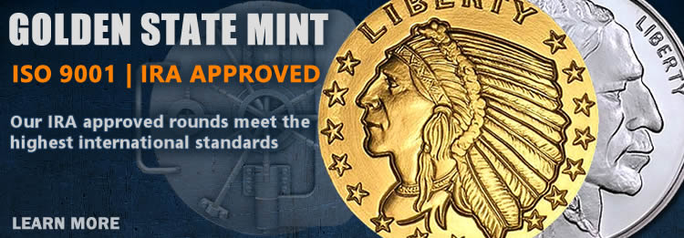 IRA approved ISO approved precious metal bullion